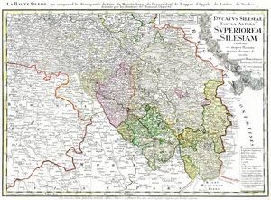 Karte von Schlesien aus dem Jahr 1746.